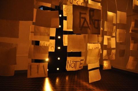 """Fulvio Michelazzi, """"Anima 135"""", installazione con lucciole, carta, elementi scenografici. Contemporary Lighting Context 2011"""
