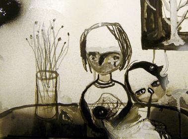 "Silvia Argiolas, ""Martedì"", tecnica mista su carta, 22x33, 2011"