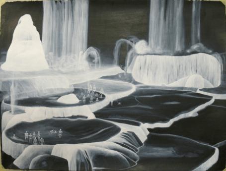 """Luca Caimmi """"la muta speranza"""", 2011, disegno, tecnica mista su carta, cm 50x70"""