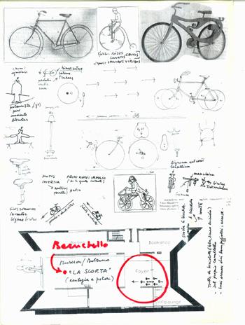"""Gianfranco Baruchello, """"La Scorta"""", progetto"""