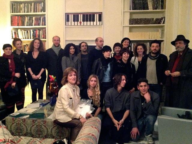 Gruppo Artisti Premio GAT con Tiziana Leopizzi, Metteo Innocenti, Andrea Granchi. Photo Emanuele Marighella