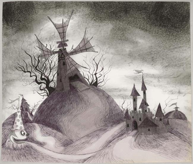 Tim Burton, Sans titre (Frankenweenie). 1982. Crayon, encre, marqueur, et fusain sur papier, 27.9 x 33 cm. Collection privée © 2011 Tim Burton