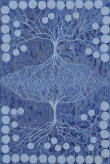 Albero della vita, 2010, acrilico e china su carta cinese intelata, cm 75x52