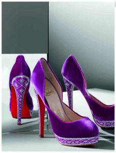 DesignMuseum-Christian_Louboutin_Eugenie_Dorsay_Velvet_Crystal_Photographer Phillippe Garcia from Christian Louboutin Book published by Rizzoli