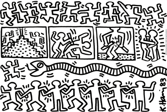 Keith Haring Senza titolo, 1983 Inchiostro su polistirolo Haggerty Museum of Art, dono dell'artista Keith Haring artwork © Keith Haring Foundation