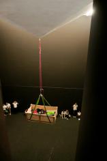 DC, Questa sosta non è un orto, performance di Mario Tomè, 2012. Nel Cubo di Palazzo Crepadona. Foto Giacomo De Donà