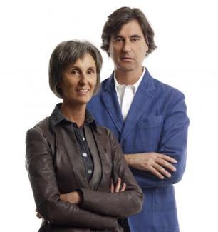 Baldessari e Baldessari portrait
