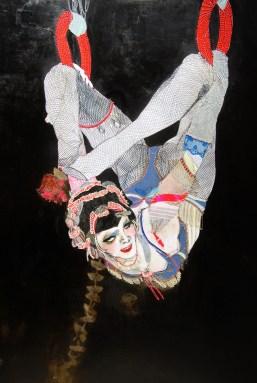 Elena Monzo, Fil Rouge, 2012, tecnica mista su carta, cm 150x100