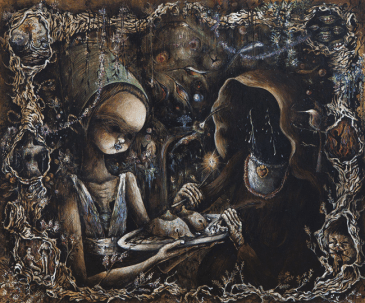 Elena Rapa, Madonna in gloria con il bambino e le sante agata e apollonia by Jacopo Bassano