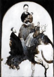 Sergio Padovani Madonna in trono con bambino by Leandro Bassano