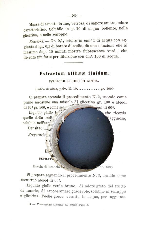 Farmacopea del Regno d'Italia - dettaglio - pic by Nuvola Ravera