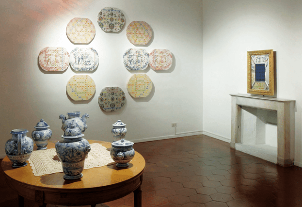 Bucolic ambient. Veduta della mostra Vincenzo Marsiglia. Experience da Emmeotto Ling Gallery, Roma.