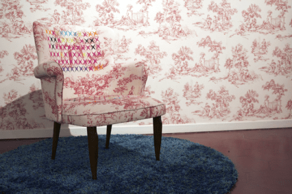 Bucolic chair. Veduta della mostra Vincenzo Marsiglia. Experience da Emmeotto Ling Gallery, Roma. Foto:
