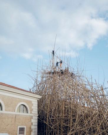 WORK IN PROGRESS, Doug e Mike Starn, Big Bambú, MACRO Testaccio, Roma. Courtesy Enel Contemporanea. Foto: Sirio Magnabosco