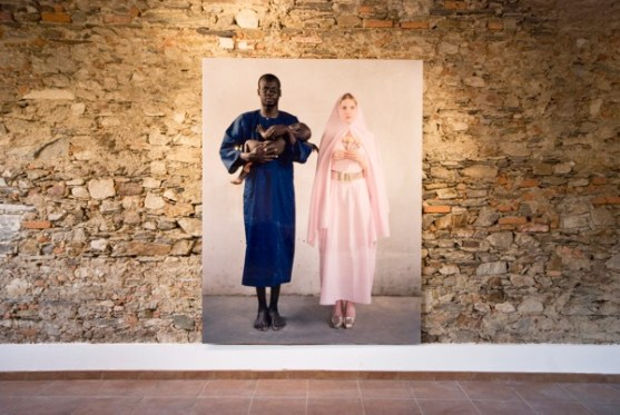 Vanessa Beecroft, VBSS.010.MP, 2006, Digital c-print, 230x180 cm, Edition of 6, Courtesy Galleria Lia Rumma, Milano/Napoli - veduta della mostra, Museo Tornielli, Ameno (NO)