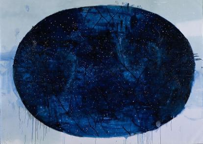 Galleria Otto Gallery, Piero Pizzi Cannella, La mappa delle stelle, 2002-2004, t.mista su tela cm.290x355