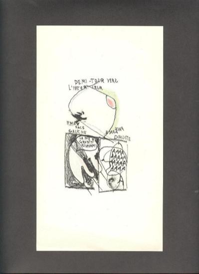 Galleria STEFANO FORNI, Gastone Novelli, Litografia originale per L'IMAGE di Samuel Beckett Litografia Bulla Roma 1961 mm.245x145