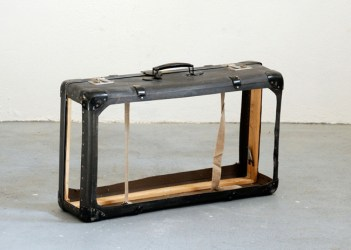Robert Kunec, To live out of one's suitcase, suitcase, 2012, Krupic Kersting Galerie