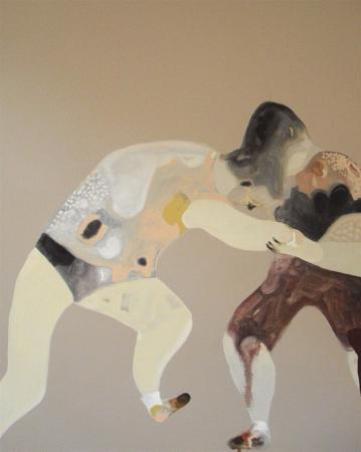G. Castelli, Reame di carne, 2013, olio e acrilico su tela, cm 65x50
