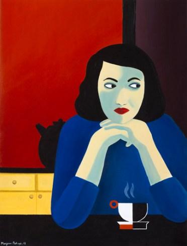 Marjane Satrapi, Senza titolo, 2012, acrilico su carta incollata su tela, 635x485cm-25x19-1_8-in. © Gal. J. de Noirmont, Parigi