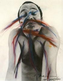 Arnulf Rainer, Bacio, 1972, olio su foto, cm 60x50, Fondazione Antonio Mazzotta, Milano