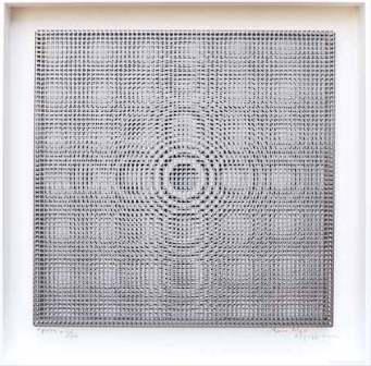 Alberto Biasi, Gocce in gabbia, 1964, cm 57x57x4