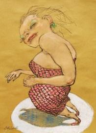 Enrico Robusti, il mio nome è Wanda ma per tutti sono Uonda, 2012, pastello su carta, cm 50x35