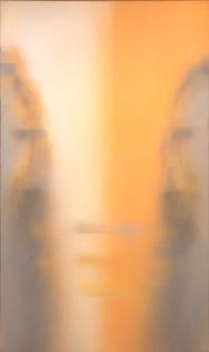 Claudio Olivieri, Oro e cenere, 2012, olio su tela, 220x130 cm