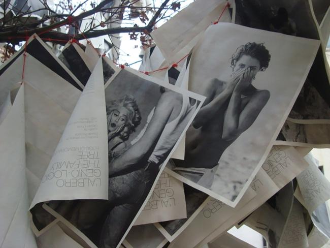 Davide Bazzerla, L'albero genio-logico - The Family Tree (detail 3), 2012, installazione con 3000 foto