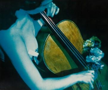 "Richard Preston, Paik's ""Opera Sextronique"" NYC, 9 febbraio 1967. Dall'album ""Charlotte Moorman and Nam June Paik"", 1964-74, Edizioni Pari & Dispari, 1975. Serie n. 12/15."