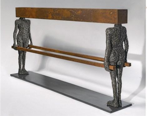 Fabrizio Pozzoli, Prodrome 2, 2011, filo di ferro, ferro ossidato, 80x162x25 cm