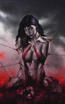 lucio parrillo COVER PER VAMPIRELLA Personaggio: Vampirella Olio su illustration board, cm 35x50