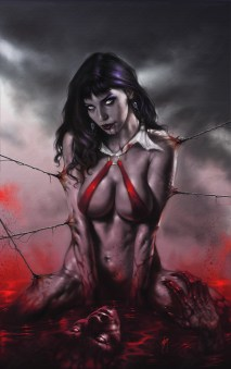 lucio parrillo COVER PER VAMPIRELLA Personaggio: Vampirella Olio su illustration board, cm 35x50