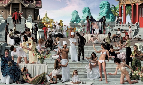 AES+F, The Feast of Trimalchio, Arrival of the Golden Boat, 2010, collage digitale, c-print, Diasec®, cm 295x495, Padiglione Venezia Courtesy of Triumph Gallery, Moscow