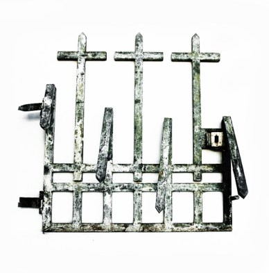 Gate, 2012, cancello in ferro trattato, cm 140x130