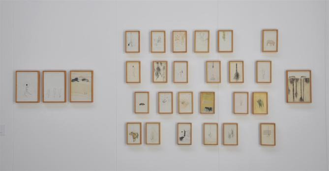 Elisa Bertaglia, Allestimento Biennale di Venezia-Padiglione Accademie, Populus III, 28 disegni a tecnica mista su carta, misure variabili, 2011