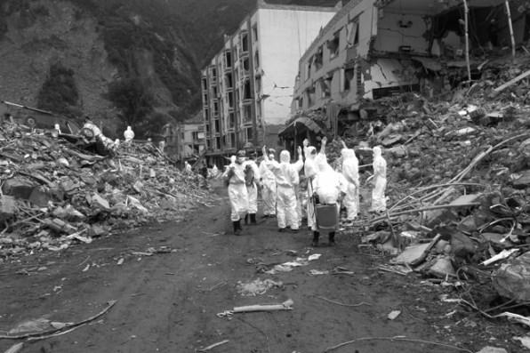 Sichuan Earthquake Photos, 2008-,16 black-and-white photographs 20 x 13 3/5in. 50.8 x 33.8 cm, each Photo credit: Ai Weiwei