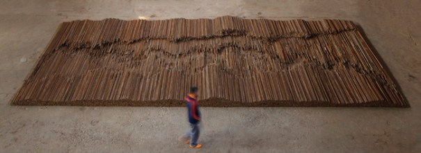Straight, 2008-2012, Steel reiforcing bars, Photo credit: Ai Weiwei