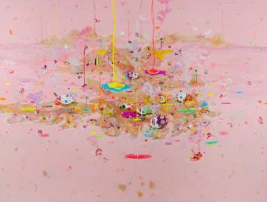 William Marc Zanghi, Isola, 2013, vernici su tela, 150X200 cm