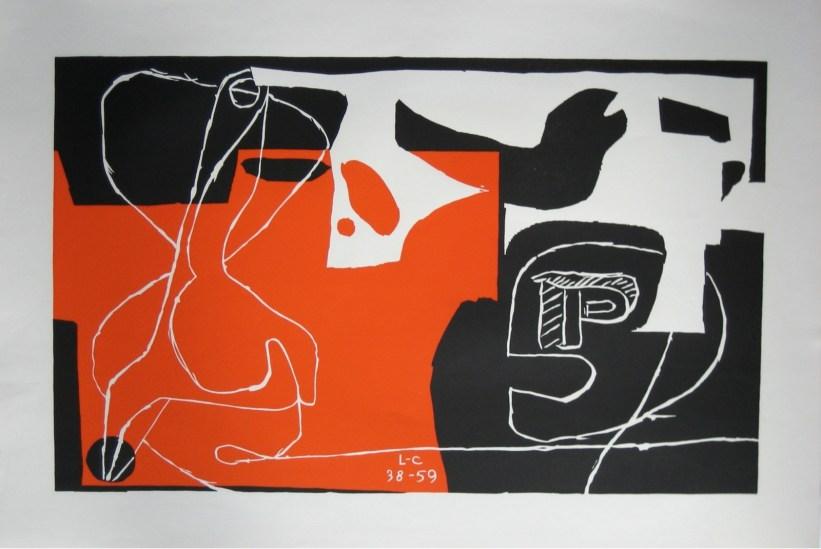 Le Corbusier, Il dado è tratto, 1938-59, litografia, cm 52x76 © Fondation Le Corbusier by SIAE 2013
