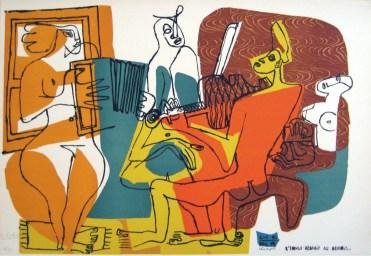 Le Corbusier, Musicisti, 1951-59, litografia, cm 68x98 © Fondation Le Corbusier by SIAE 2013