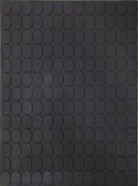Turi Simeti, 169 ovali neri, 1963, legno su tela, cm 200x150