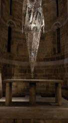 Wim Delvoye Lucca, Untitled, 2010 laser-cut stainless steel, 1100x129x130cm, © Studio Wim Delvoye