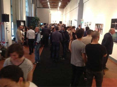 Biennale Giovani Monza 2013, veduta dell'inaugurazione, Serrone della Villa Reale, Monza