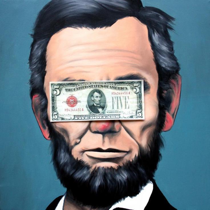 Massimo Gurnari, Lincoln, olio su tela, cm 50x50