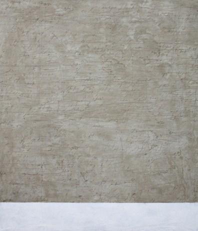 Alfredo Rapetti Mogol, Migrazione, cemento e acrilico su tela, cm 140x120