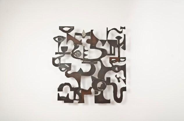 Justin Peyser, Channels, 2010, acciaio, 149x137x4 cm