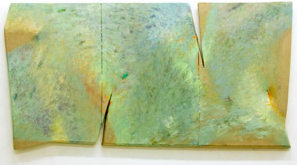 Tetsuro Shimizu, Iki T-16, 2013, olio su tela sagomata, cm 90x180