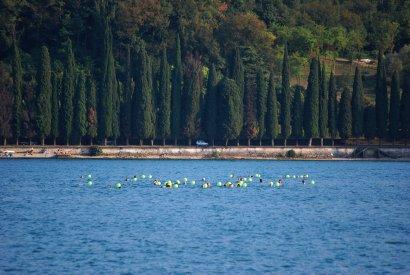 V memoriale di Pippa Bacca 2012, i partecipanti in acqua Foto Caterina Zanelli