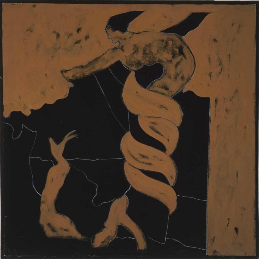 Tano Festa, Senza titolo, 1976, acrilico su tela, cm 80 x 80 © Collezione Jacorossi, Roma